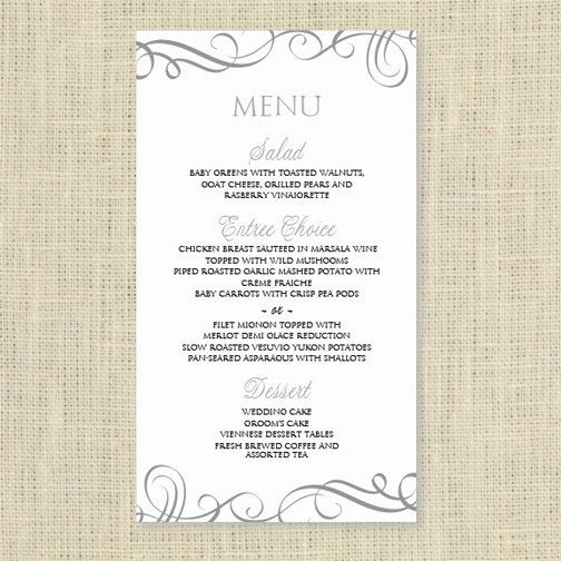 Free Menu Template Download Word Unique Wedding Menu Card Template Download Instantly Edit