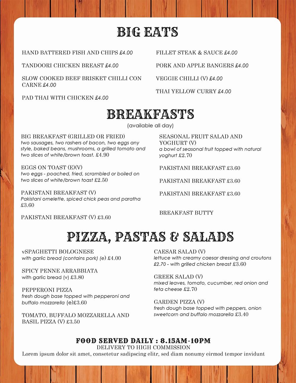 Free Menu Template Microsoft Word Awesome Design & Templates Menu Templates Wedding Menu Food
