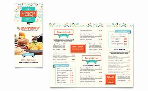 Free Menu Template Microsoft Word Awesome Tri Fold Menu Templates Word & Publisher Templates