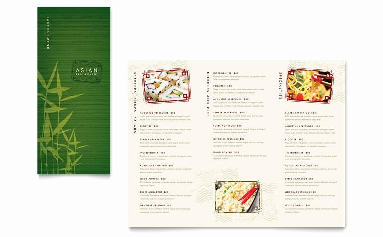 Free Menu Template Microsoft Word Elegant asian Restaurant Take Out Brochure Template Word & Publisher