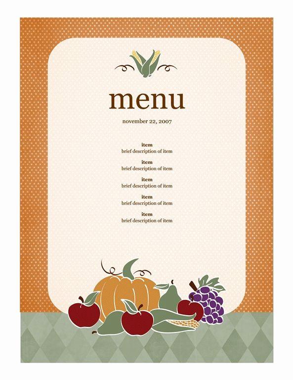 Free Menu Template Microsoft Word Luxury Pin by Kathy Edel On Thanksgiving