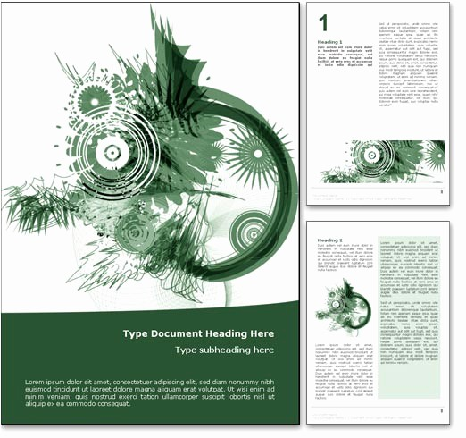 Free Microsoft Templates for Word Best Of Royalty Free Abstract Art Microsoft Word Template In Green