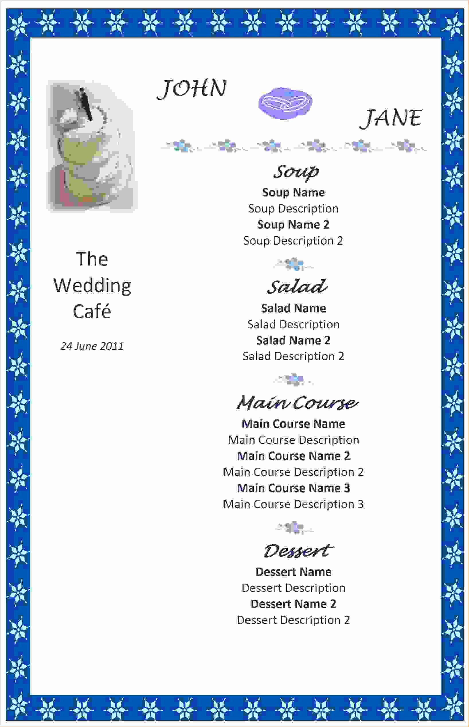 Free Microsoft Templates for Word Lovely 7 Free Menu Templates for Word
