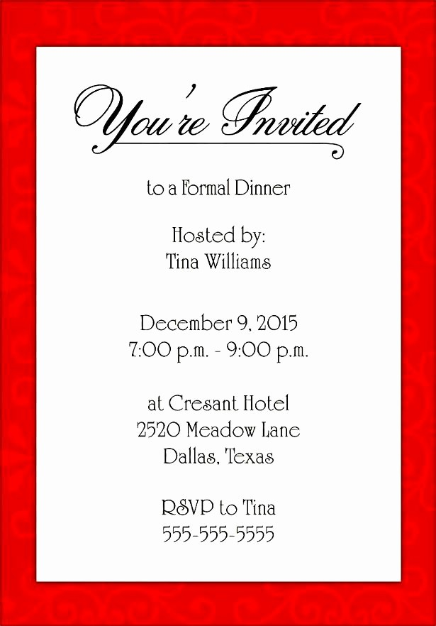 Free Microsoft Templates for Word Lovely formal Invite Template Invitation Template