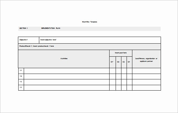 Free Microsoft Templates for Word Luxury Work Plan Template 15 Free Word Pdf Documents Download