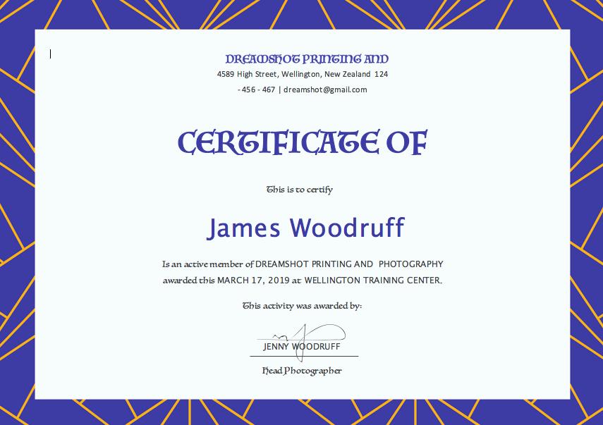 Free Microsoft Word Certificate Templates Beautiful Free Certificate Templates for Word