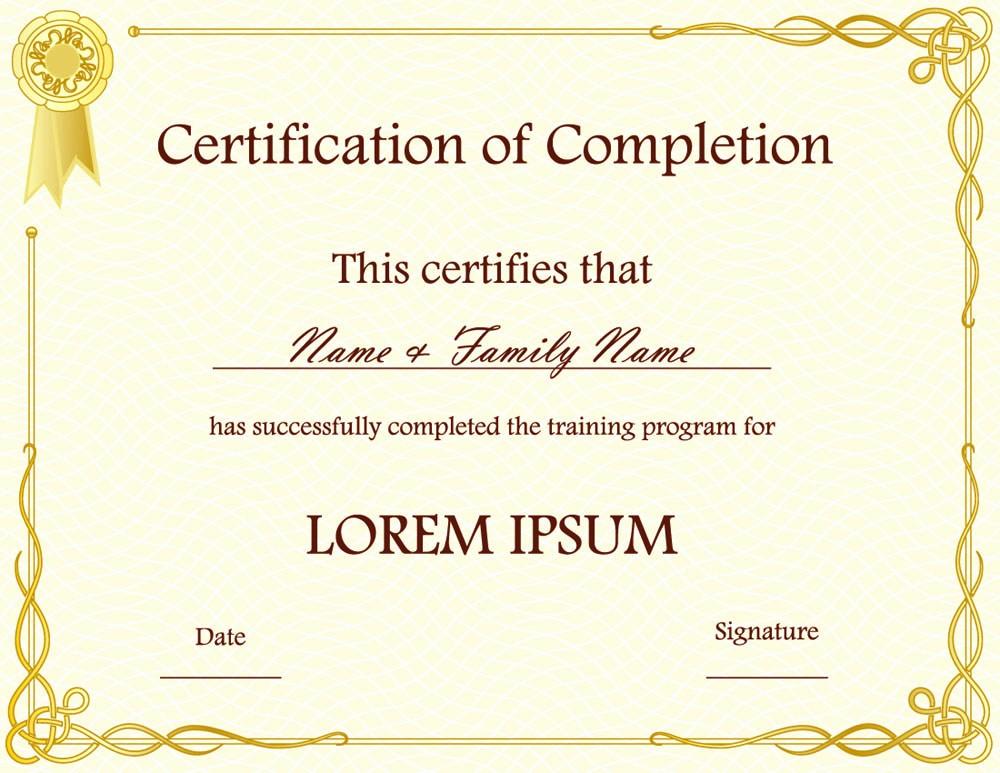 Free Microsoft Word Certificate Templates Best Of Blank Award Certificate Templates