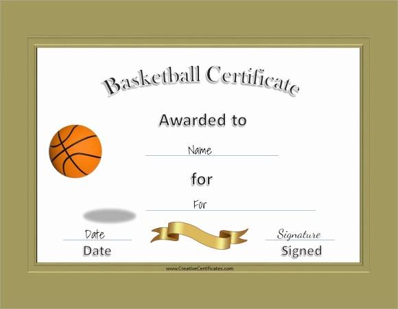 Free Microsoft Word Certificate Templates Elegant 9 Sample Basketball Certificate Templates to Download