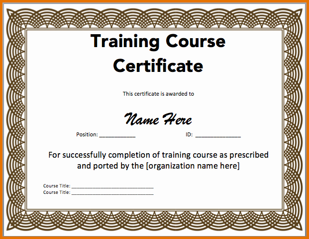 Free Microsoft Word Certificate Templates Elegant Certificate Of Training Templatereference Letters Words