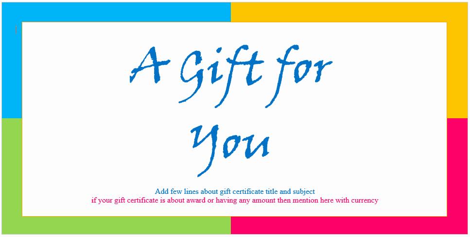 Free Microsoft Word Certificate Templates Elegant Custom Gift Certificate Templates for Microsoft Word