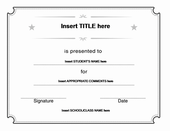 Free Microsoft Word Certificate Templates Fresh 31 Free Blank Certificate Templates Microsoft Fice