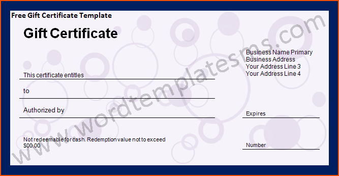 Free Microsoft Word Certificate Templates Fresh 6 Word T Certificate Template Bookletemplate