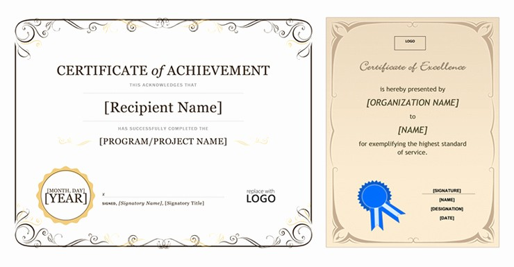 Free Microsoft Word Certificate Templates Fresh Microsoft Fice Certificate Template Templates Collections