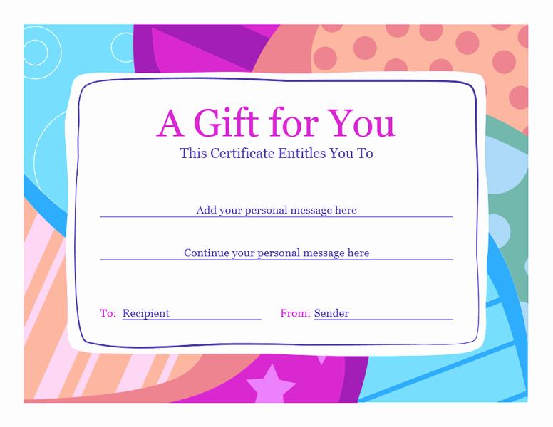 Free Microsoft Word Certificate Templates Inspirational Download Gift Certificate Template Word 2010 Free