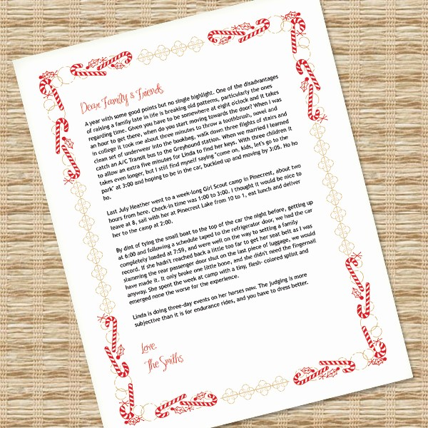 Free Microsoft Word Christmas Template Awesome Christmas Letter Template for Ms Word – Download & Print