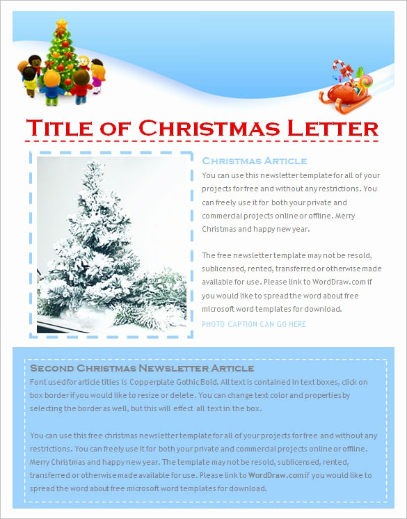 Free Microsoft Word Christmas Template Inspirational 9 Christmas Newsletter Templates