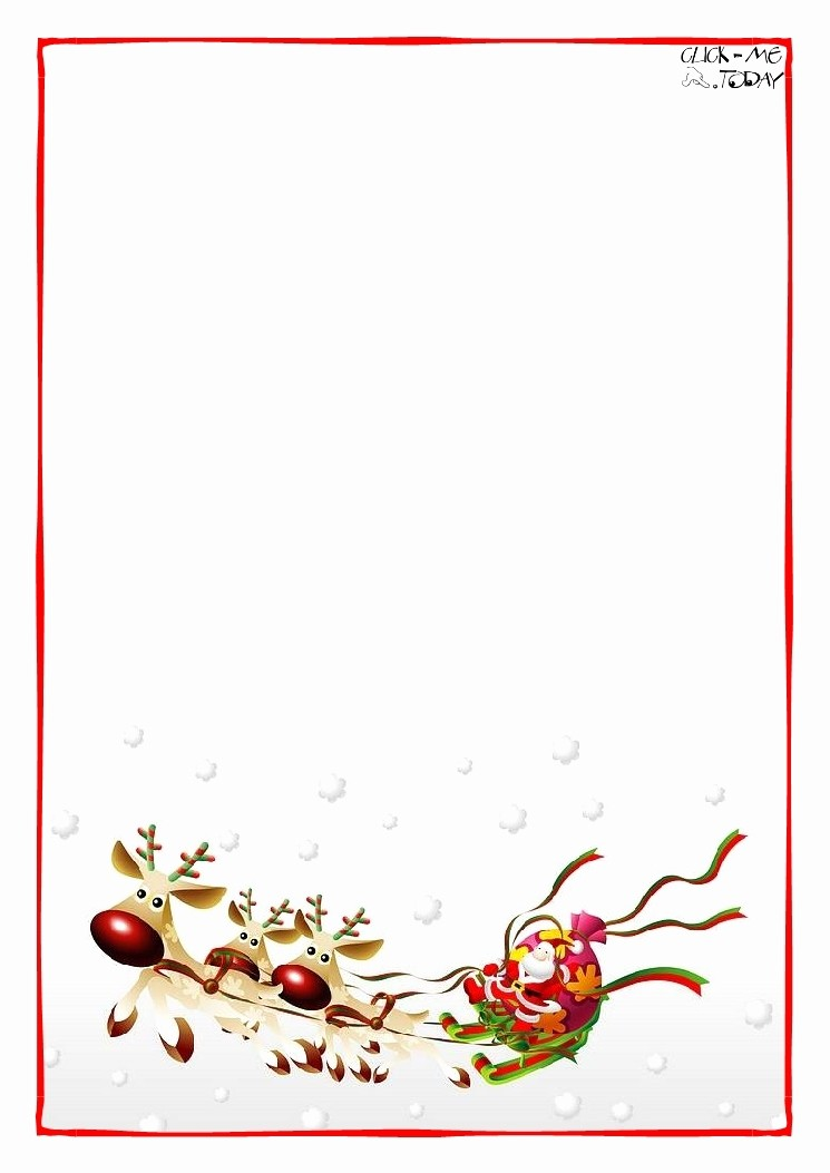 Free Microsoft Word Christmas Template Luxury Christmas Letter Paper Template Invitation Template