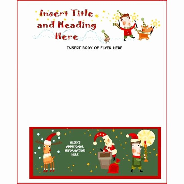Free Microsoft Word Christmas Template Luxury Create A Christmas Flyer Line with these Methods