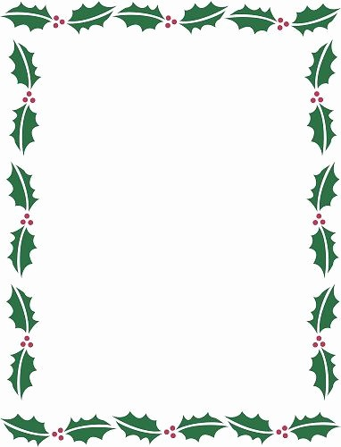 Free Microsoft Word Christmas Template Luxury Holiday Borders for Microsoft Word