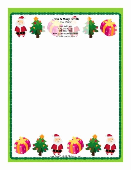 Free Microsoft Word Christmas Template Luxury Printable Christmas Borders