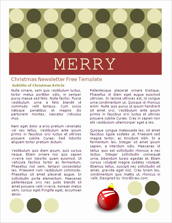 Free Microsoft Word Christmas Template Unique 27 Microsoft Newsletter Templates Doc Pdf Psd Ai