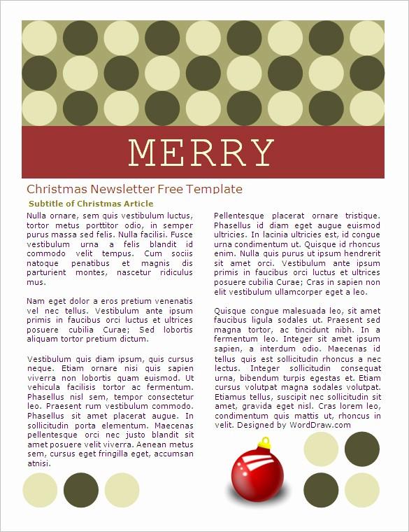 Free Microsoft Word Christmas Template Unique 27 Microsoft Newsletter Templates Doc Pdf Psd Ai