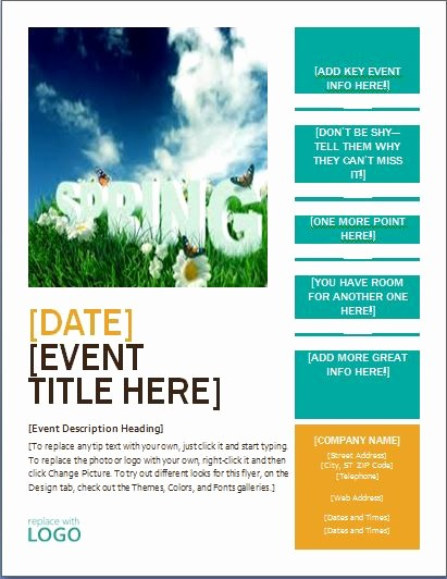 Free Microsoft Word Flyer Templates Lovely Ms Word Seasonal event Flyer Templates
