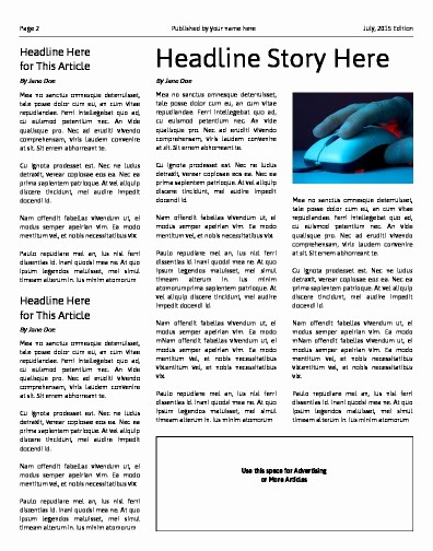 Free Microsoft Word Newspaper Template Awesome Free Newsletter Templates Print and Digital