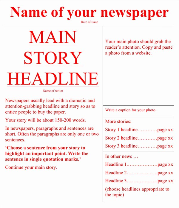 Free Microsoft Word Newspaper Template Beautiful 42 Amazing Newspaper Templates
