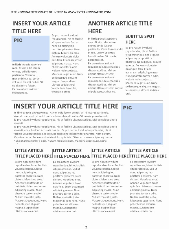 Free Microsoft Word Newspaper Template Beautiful Best S Of Newspaper Front Page format Editable