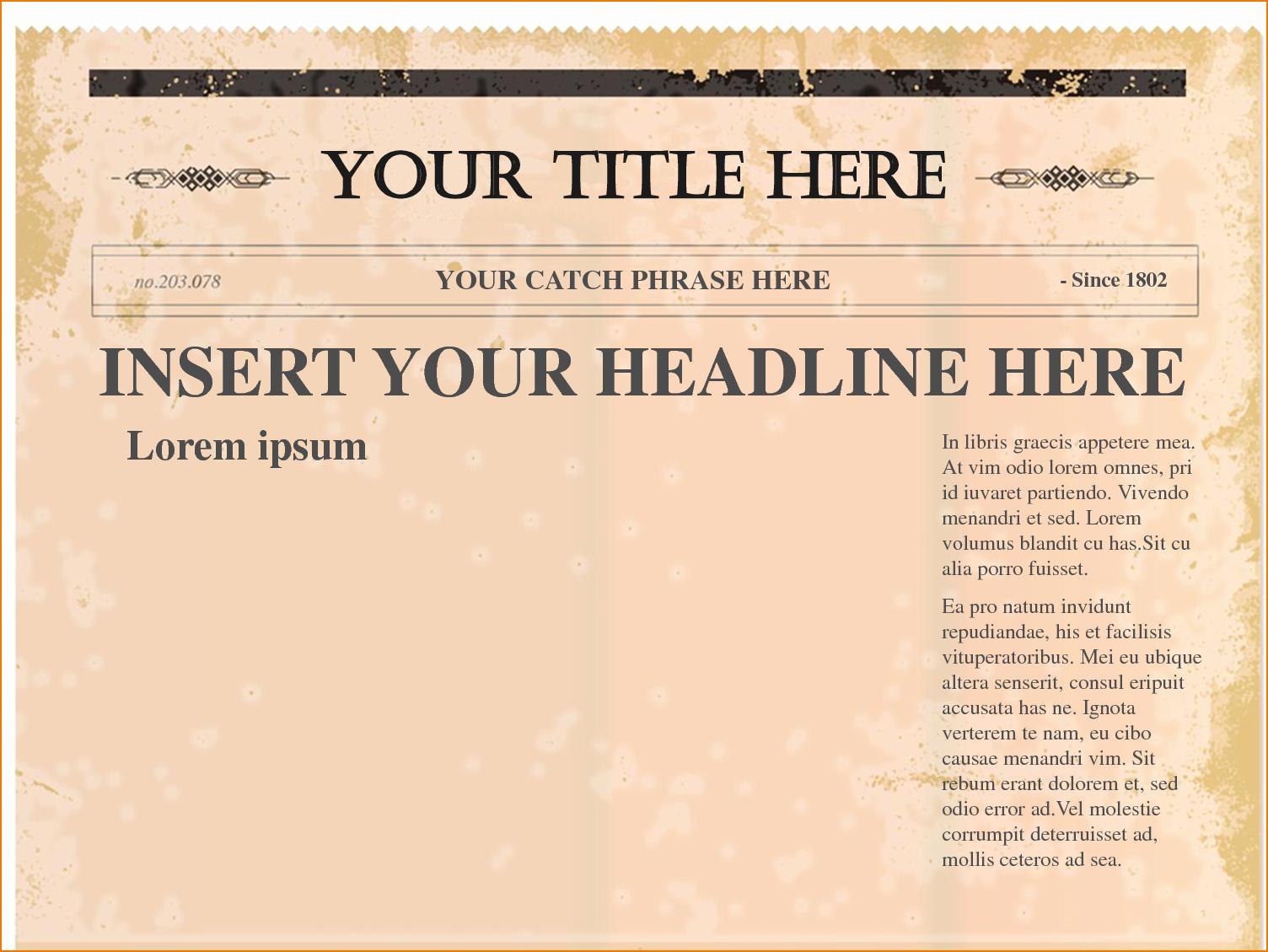 Free Microsoft Word Newspaper Template Best Of 4 Free Newspaper Templates