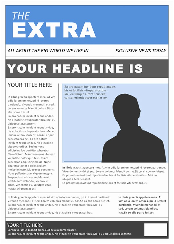 Free Microsoft Word Newspaper Template Fresh 42 Amazing Newspaper Templates
