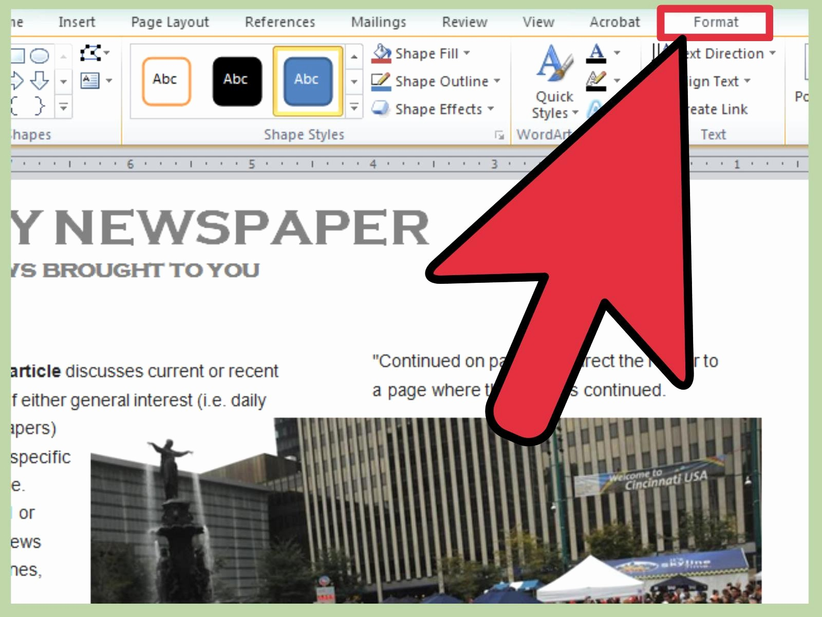 Free Microsoft Word Newspaper Template Inspirational 3 Ways to Make A Newspaper On Microsoft Word Wikihow