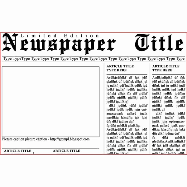 Free Microsoft Word Newspaper Template Lovely 10 Best Of Newspaper Layout Template Microsoft Word