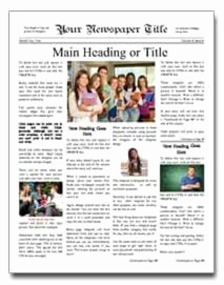 Free Microsoft Word Newspaper Template Lovely 9 Newspaper Templates Word Excel Pdf formats