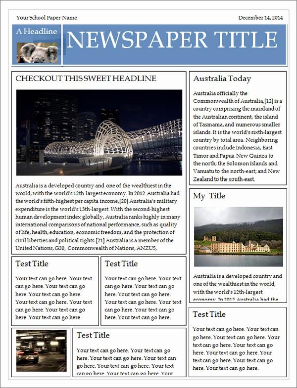 Free Microsoft Word Newspaper Template Luxury 42 Amazing Newspaper Templates