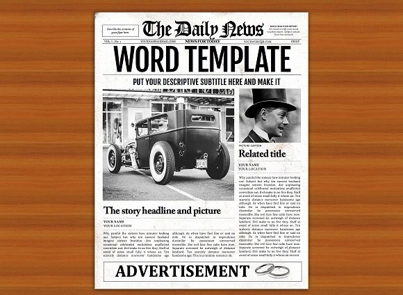 Free Microsoft Word Newspaper Template Unique Old Style Word Newspaper Template Flyer Templates On
