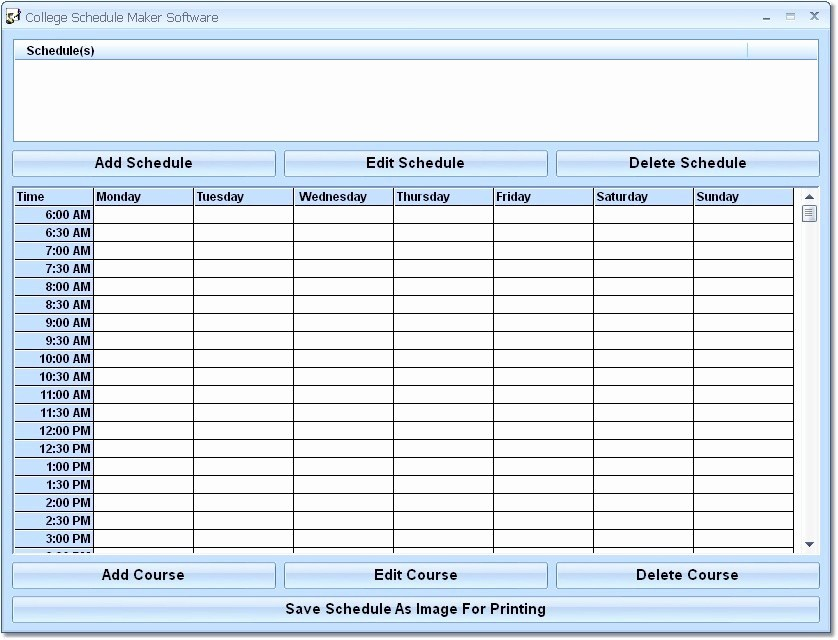 Free Middle School Schedule Maker Awesome 8 Best Of Extra Printable Blank Weekly