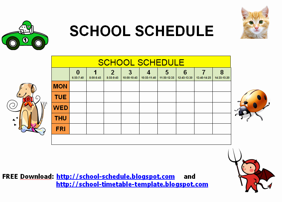 Free Middle School Schedule Maker Beautiful 7 Best Of Printable Class Schedule Maker Class
