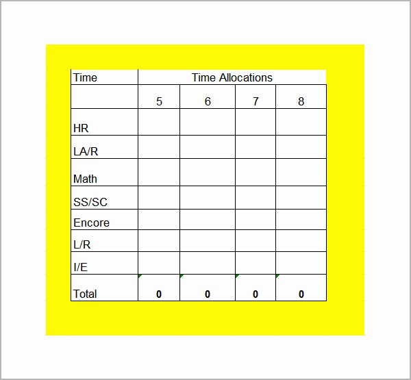Free Middle School Schedule Maker Elegant Class Schedule Template 6 Download Free Documents In