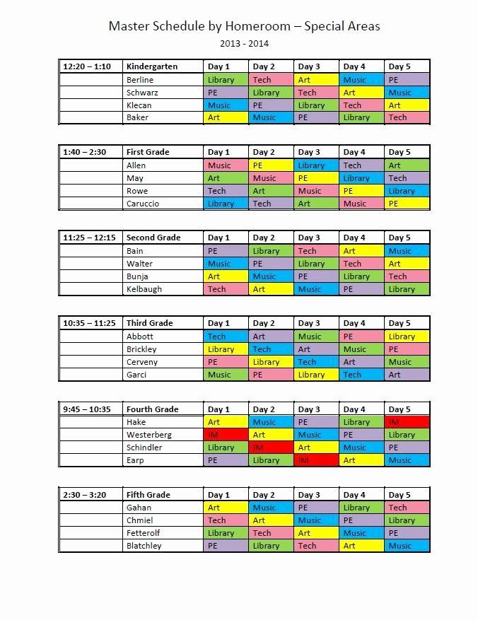 Free Middle School Schedule Maker Elegant High School Master Schedule Template Excel Microsoft