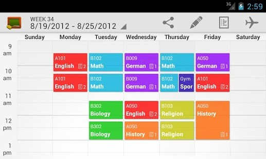 Free Middle School Schedule Maker Elegant My Class Schedule Timetable android Apps On Google Play
