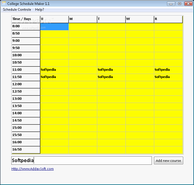 Free Middle School Schedule Maker Lovely Download College Schedule Maker 1 1