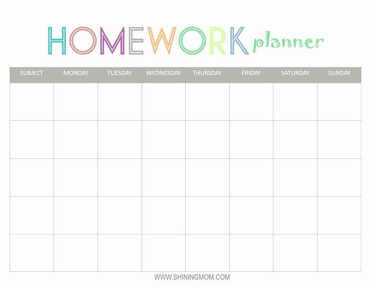 Free Middle School Schedule Maker Luxury Free Printable Homework Planner