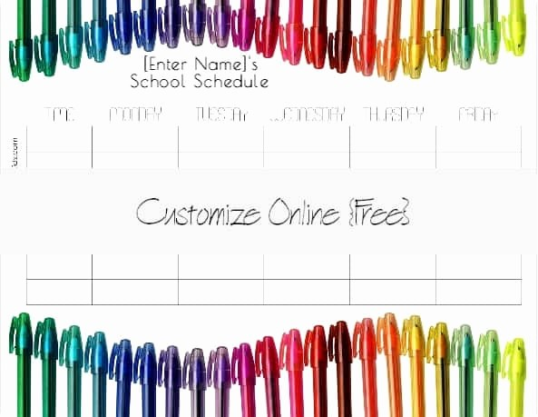 Free Middle School Schedule Maker Luxury Free School Schedule Maker
