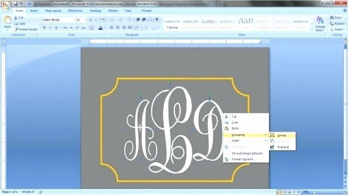 Free Monogram Template for Word Awesome Free Monogram Template Download Printable Alphabet for