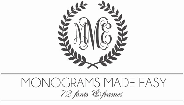 Free Monogram Template for Word Beautiful Monograms Made Easy 72 Fonts & Frames
