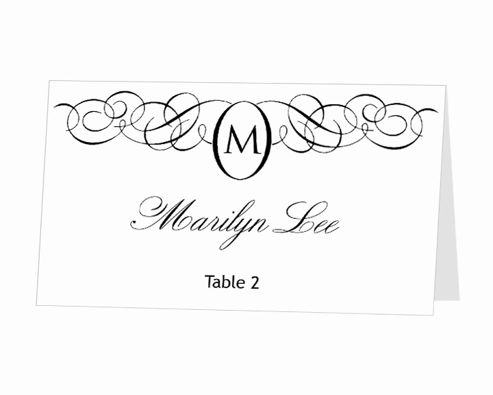 Free Monogram Template for Word Beautiful Printable Place Card Template Instant Download Escort by