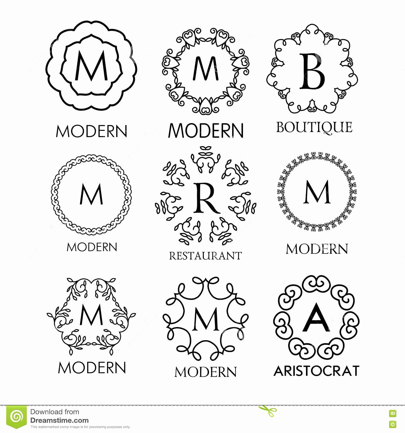 Free Monogram Template for Word Elegant Templates Monogram Templates theoddvillepress