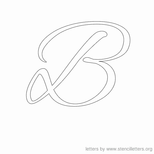 Free Monogram Template for Word Fresh Free Printable Letter Stencils Cursive N Elegant Alphabet